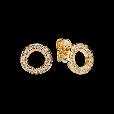 璀璨圓形針式耳環