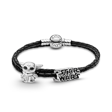 Star Wars™ The Child charm with Leather Bracelet Set