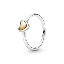 圓拱金心戒指