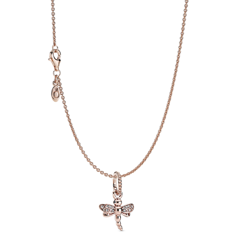 Sparkling Dragonfly Necklace Set