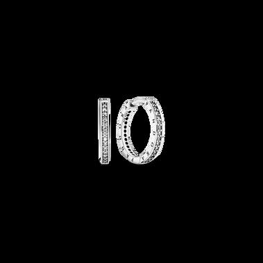 Pandora Logo 寶石耳環圈