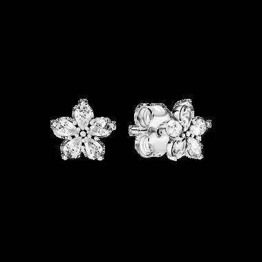 Sparkling Snowflake Stud Earrings