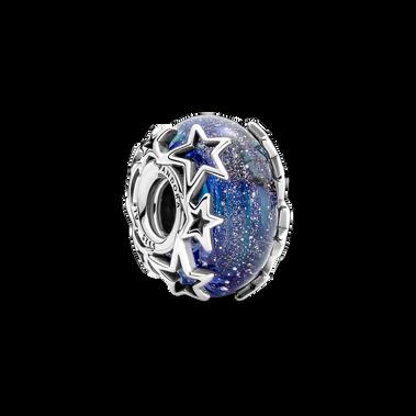 Galaxy Blue & Star Murano Charm