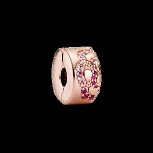Pink Fan Pattern Spacer Clip Charm
