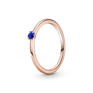 Stellar Blue Solitaire Ring