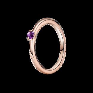 紫色單石戒指