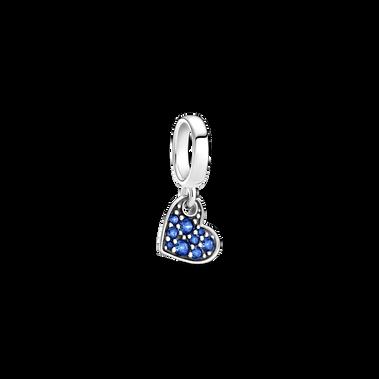星藍密鑲寶石傾心吊飾