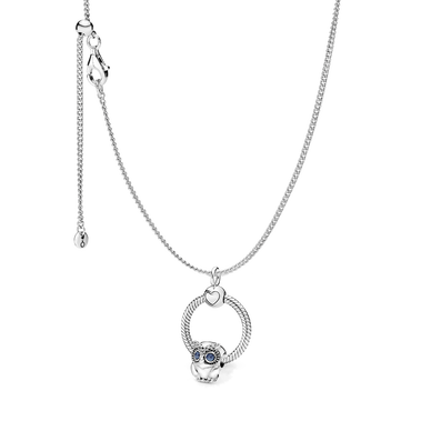Owl with Pandora O Necklace Set