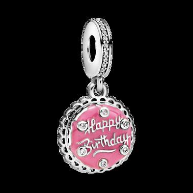 粉紅生日蛋糕吊飾