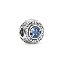 璀璨之藍 O 字形冠冕串飾