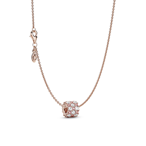 Pink & Clear Sparkle Necklace Set