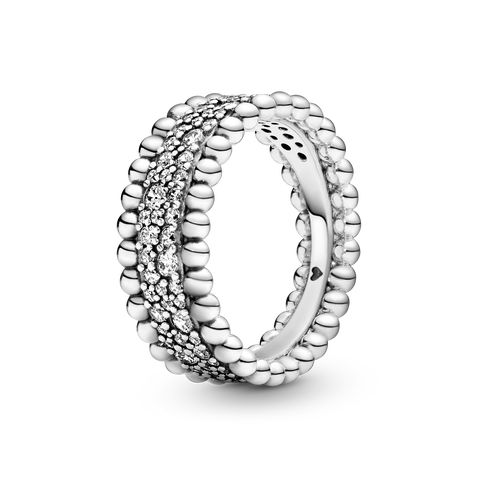 Beaded Pavé Band Ring