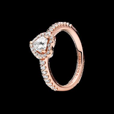 璀璨立體心形寶石戒指