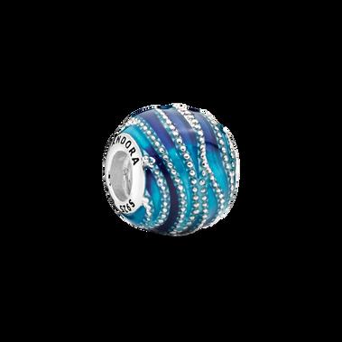 湛藍波紋串飾