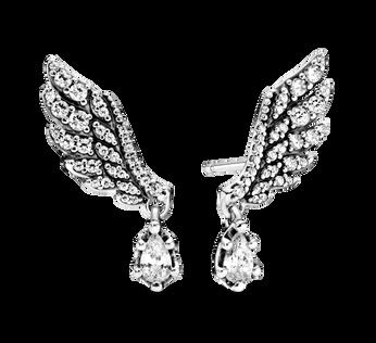 天使之翼針式耳環