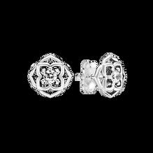 玫瑰花瓣針式耳環