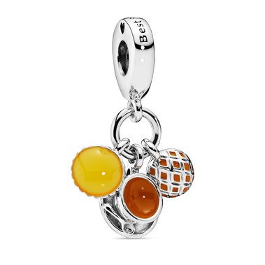 Egg Tart, Milk Tea & Pineapple Bun Dangle Charm