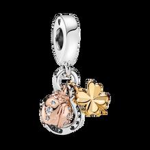 Horseshoe, Clover & Ladybird Dangle Charm