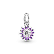 Purple Daisy Dangle Charm