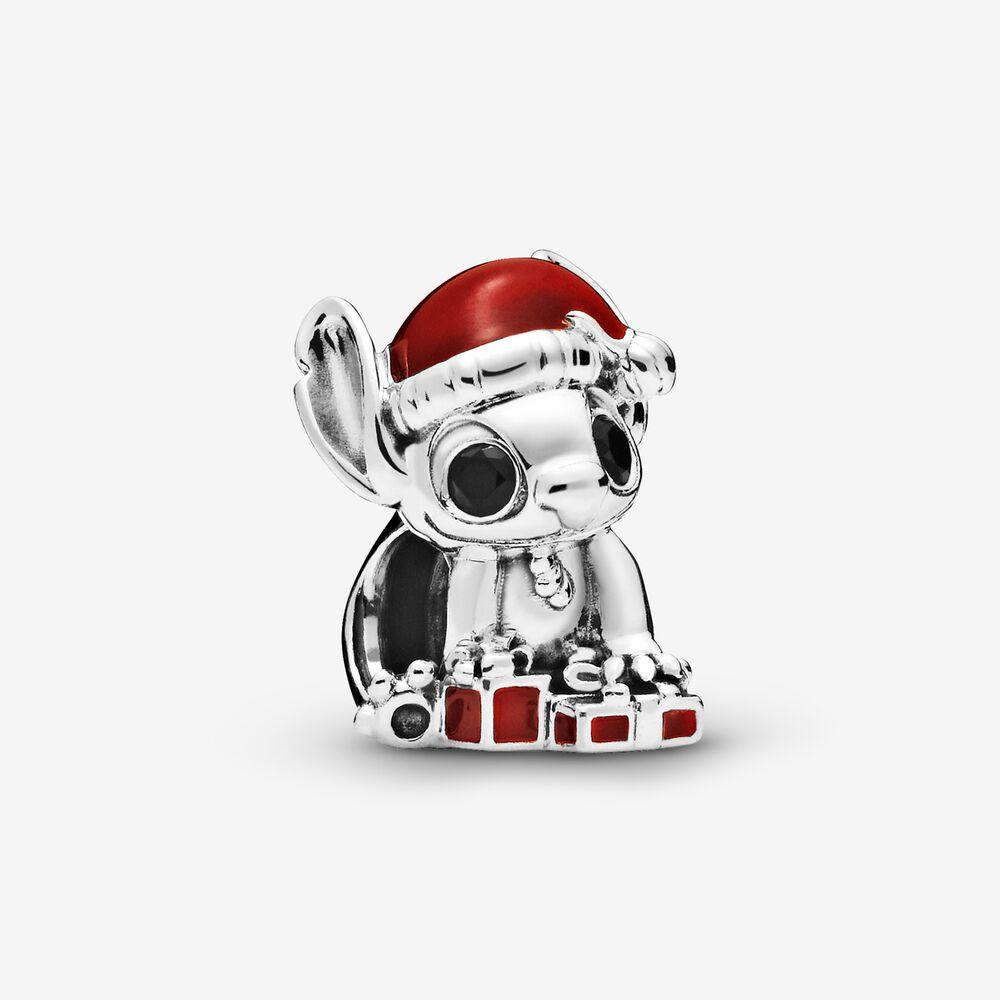 Disney Stitch Christmas Charm Sterling Silver Multicolour