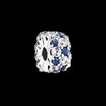 藍色配透明寶石固定夾