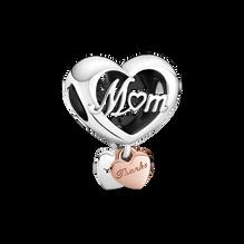 感激母愛心形串飾