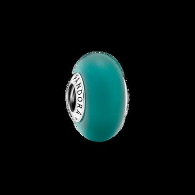 啞緻深綠 Murano 琉璃串飾