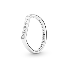 Logo 橫飾疊戴戒指