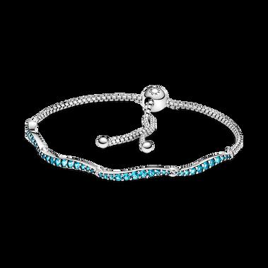 Blue Wavy Slider Bracelet