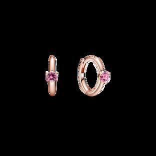 粉紅單石小耳環圈
