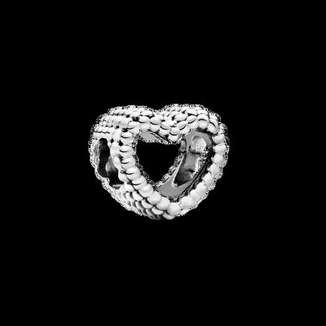珠飾鏤空心形串飾