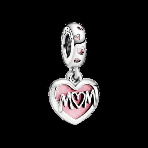 「Mum」字樣字樣心形吊飾