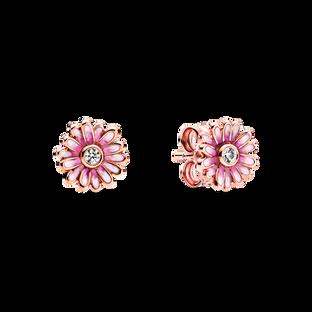 粉紅雛菊針式耳環