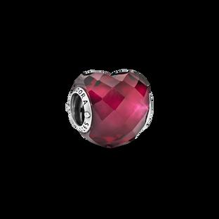 Fuchsia Pink Heart Charm