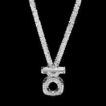 Double Hoop T-bar Necklace