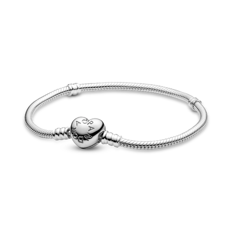 Pandora Moments 心形鏈扣蛇形手鏈