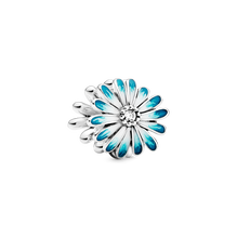 Blue Daisy Flower Charm