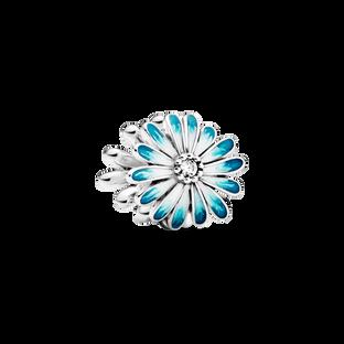 Blue Daisy Flower Charm