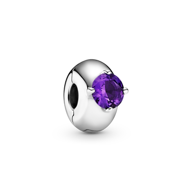 紫色圓形單石固定夾