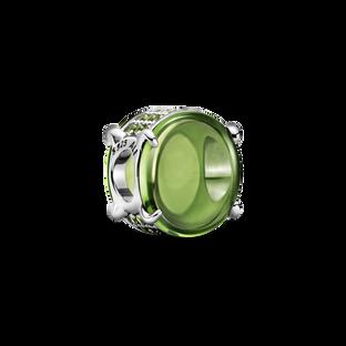 綠色橢圓寶石串飾
