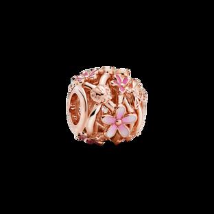 鏤空粉紅雛菊串飾