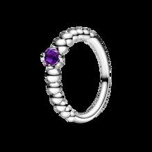 Purple Beaded Ring