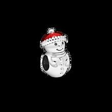雪人配聖誕帽串飾