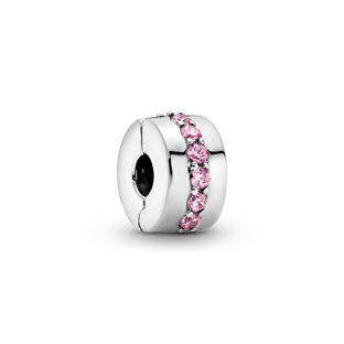 璀璨粉紅寶石固定夾