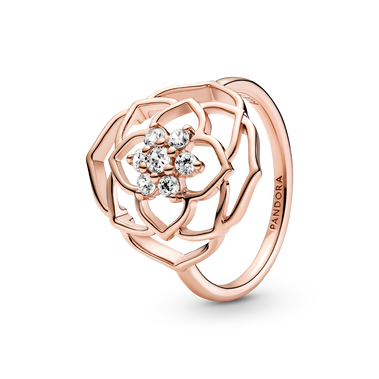 玫瑰花瓣矚目戒指