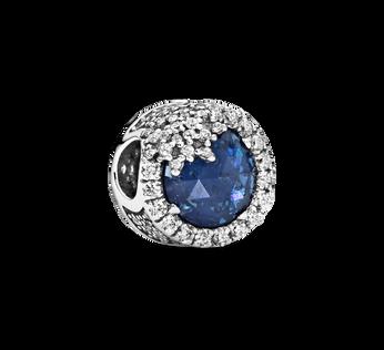 Blue Dazzling Snowflake Charm