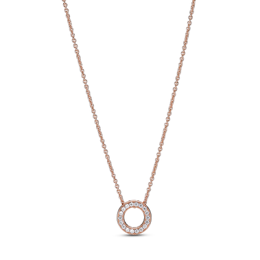 Pandora Logo Pavé Circle Collier Necklace