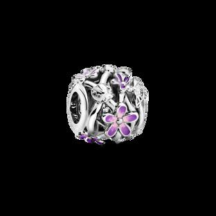 紫色雛菊鏤空串飾