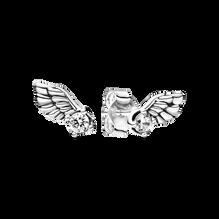 天使之翼璀璨針式耳環