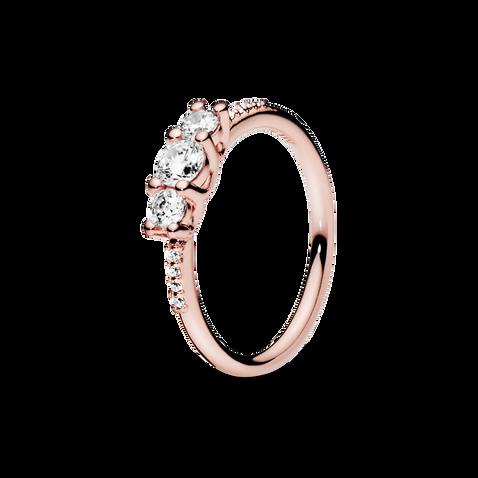 透明三石戒指